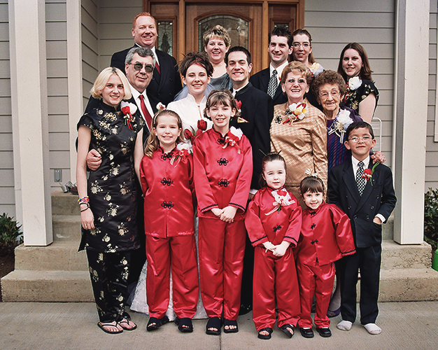 All of my family at my wedding. (Top Row: Jay, Tammy, Harry, Jenifer, Katee. Second Row: Terry, Irene, Caleb, Phyllis, Vonda Front Row: Terice, Taylor, Lyndze, Malorie, Tristana, Ryan)